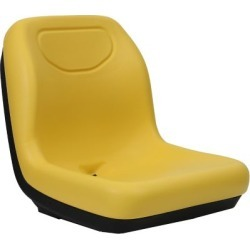 Black Talon Deluxe Ultra-High Back Tractor Seat; Yellow