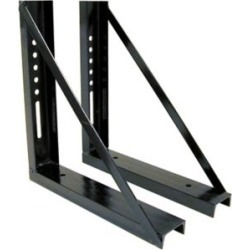 Buyers Products 18 in. x 18 in. Bolted Black Structural Steel Mounting Brackets