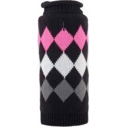 The Worthy Dog Modern Argyle Dog Sweater