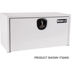 Buyers Products 18 in. x 18 in. x 24 in. White Steel Underbody Truck Box with 3-Point Latch