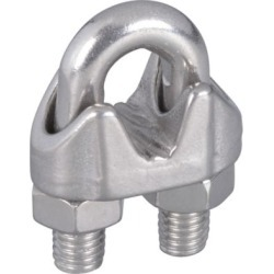 National Hardware 1/4 in. Wire Cable Clamps Stainless Steel; N830-314