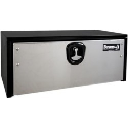 Buyers Products 18 in. x 18 in. x 30 in. Black Steel Truck Box with Stainless Steel Door