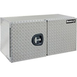 Buyers Products 18 in. x 18 in. x 48 in. Diamond Tread Aluminum Underbody Truck Box with Barn Door