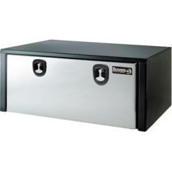 Buyers Products 18 in. x 18 in. x 60 in. Black Steel Truck Box with Stainless Steel Door
