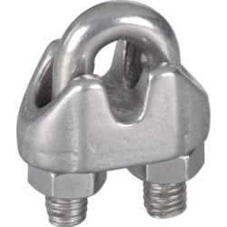 National Hardware 1/8 in. Wire Cable Clamps Stainless Steel; N830-312