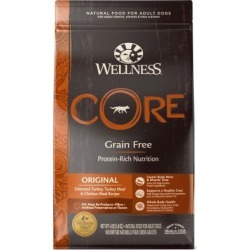 Wellness CORE Natural Grain-Free Original Turkey & Chicken Recipe Dry Dog Food, 4 lb.