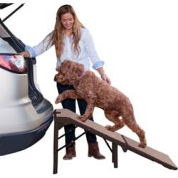 Pet Gear Inc. Freestanding Extra Wide SupertraX Pet Ramp,PG9956XLCR