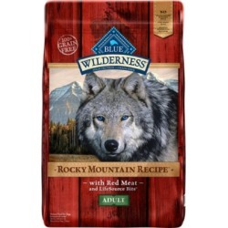 Blue Buffalo BLUE Wilderness Rocky Mountain Recipe Adult Grain-Free Red Meat Dry Dog Food 10 lb. Bag