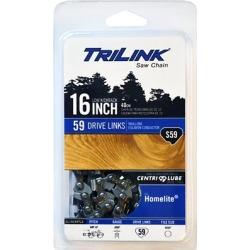 TriLink Saw Chain 16 in. Semi Chisel Saw Chain; 3/8 in. LP Pitch; .050 in. Gauge; 59 DL