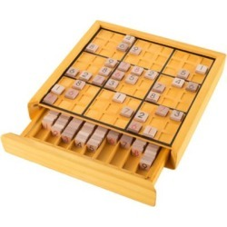 Hey! Play! Wooden Sudoku Board Game Set