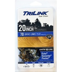 TriLink Saw Chain 20 in. Full Chisel Saw Chain; 3/8 in. Pitch; .050 in. Gauge; 70 DL