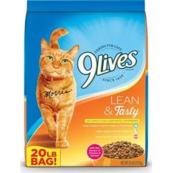 9Lives Lean & Tasty Dry Cat Food; 20 lb. Bag