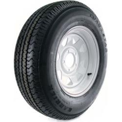 Kenda Karrier Radial Trailer Tire and 5-Hole Custom Spoke Wheel (5/4.5), 205/75R-14 LRC