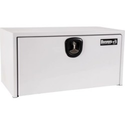 Buyers Products 18 in. x 18 in. x 30 in. White Steel Underbody Truck Box with 3-Point Latch