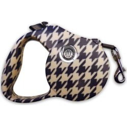 American Kennel Club AKC Houndstooth Retractable Dog Leash