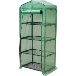Genesis 4 Tier Rolling Portable Greenhouse with Opaque Cover, GEN-4PE