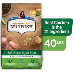 Rachael Ray Nutrish Real Chicken & Veggies Recipe Natural Dry Dog Food; 40 lb.