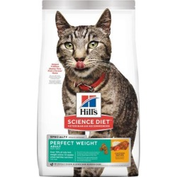 Hill's Science Diet Adult Perfect Weight Chicken Recipe Dry Cat Food, 7 lb. Bag