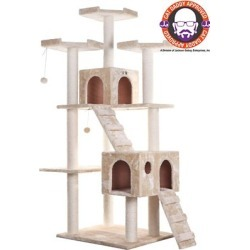 Armarkat A7401 74 in. Cat Tree, Beige