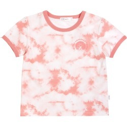 Toddler Girl's Miles Kids' Summer Camp Melon Tie Dye Ringer Graphic Tee, Size 3T - Coral found on Bargain Bro from Nordstrom for USD $28.88