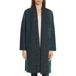 Women's Eileen Fisher Wool Blend Kimono Coat, Size XX-Small/X-Small - Green