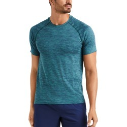 Men's Rhone Reign Tech Short Sleeve T-Shirt, Size Small - Green found on Bargain Bro from Nordstrom for USD $59.28
