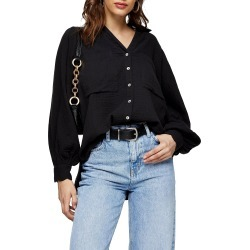Women's Topshop Casual Cotton Button-Up Shirt found on MODAPINS from Nordstrom for USD $40.00