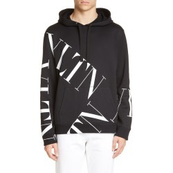 Men's Valentino Vltn Print Hoodie, Size Small - Black found on MODAPINS from Nordstrom for USD $995.00
