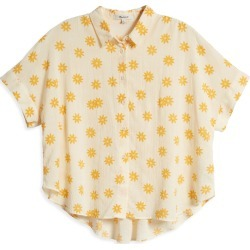 Women's Madewell Hilltop Daisy Print Button-Up Shirt, Size Large - Yellow found on Bargain Bro from Nordstrom for USD $52.82
