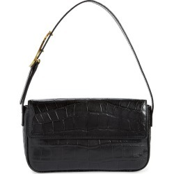 Staud Tommy Croc Embossed Leather Shoulder Bag - Black found on Bargain Bro Philippines from Nordstrom for $325.00