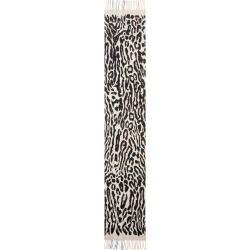 Women's Burberry Giant Check/leopard Spot Cashmere Scarf