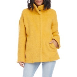 Women's Karen Kane Funnel Neck Jacket, Size Small - Yellow found on Bargain Bro India from Nordstrom for $208.60