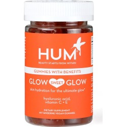 Hum Nutrition Glow Sweet Glow Vegan Gummies Skin Hydration Dietary Supplement