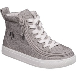 Boy's Billy Footwear Zip Around High Top Sneaker, Size 1 M - Grey found on Bargain Bro India from LinkShare USA for $55.00
