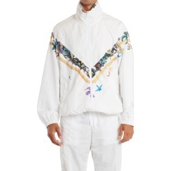 Men's Versace Tresor De La Mer Print Track Jacket, Size 40 US - White found on MODAPINS from Nordstrom for USD $1395.00