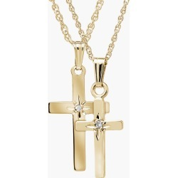 Toddler Girl's Mignonette 14K Gold & Diamond Cross Mother & Daughter Necklace Set found on Bargain Bro Philippines from Nordstrom for $420.00