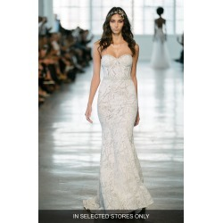 Women's Berta Crystal Embellished Strapless Lace Trumpet Gown, Size IN STORE ONLY - Ivory found on Bargain Bro Philippines from Nordstrom for $9680.00