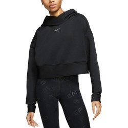 Women's Nike Pro Fleece Pullover Hoodie, Size Large - Black