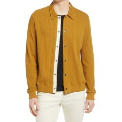 Men's Oliver Spencer Rundell Jersey Cardigan, Size Small - Metallic found on MODAPINS from Nordstrom for USD $270.00