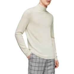 Men's Topman Merino Wool Turtleneck Sweater, Size XX-Large - Ivory found on Bargain Bro India from Nordstrom for $80.00