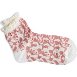 Women's Undercover Rose Print Socks, Size One Size - White found on MODAPINS from Nordstrom for USD $50.00