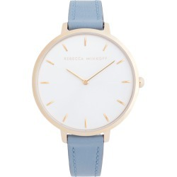 Women's Rebecca Minkoff Major Leather Strap Watch, 38mm found on Bargain Bro India from LinkShare USA for $95.00