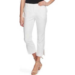 Women's Vince Camuto Side Slit Cotton Blend Doubleweave Trousers, Size 10 - White found on Bargain Bro Philippines from LinkShare USA for $89.00