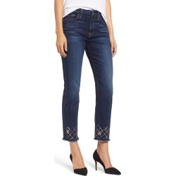Women's Jen7 By 7 For All Mankind Embellished Ankle Straight Leg Jeans found on MODAPINS from Nordstrom for USD $110.00