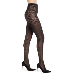 Women's Falke Macdruid Plaid & Floral Tights, Size Small - Black found on MODAPINS from Nordstrom for USD $42.00