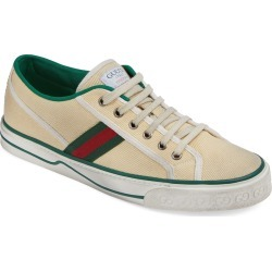 Men's Gucci Web Canvas Low Top Sneaker, Size 9.5US - White found on MODAPINS from Nordstrom for USD $630.00