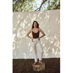 Women's Reformation Cynthia High Waist Relaxed Jeans, Size 26 - Ivory found on MODAPINS from Nordstrom for USD $128.00