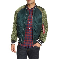Men's Alpha Industries L-2B Reversible Water Resistant Flight Jacket, Size XX-Large - Green found on MODAPINS from Nordstrom for USD $74.98