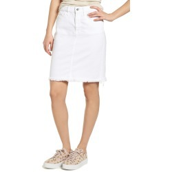 Women's Jen7 By 7 For All Mankind Frayed Hem Denim Pencil Skirt found on MODAPINS from Nordstrom for USD $129.00
