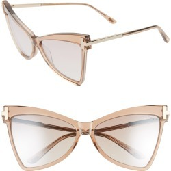 Women's Tom Ford Tallulah 61mm Cat Eye Sunglasses - Rose Champagne/ Brown found on Bargain Bro Philippines from Nordstrom for $495.00
